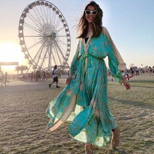 SPELL Designs Turquoise Maisie Kimono Robe Duster